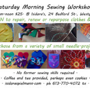 Saturday Morning Sewing Workshop