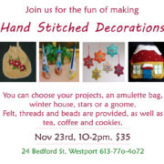 Hand Stitched Decorations Event
