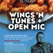 Wings 'n Tunes + Open Mic with Shawn McCullough