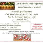 Free Yoga Class with Rideau Lakes Yoga