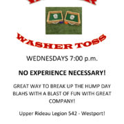 Weekly Washer Toss