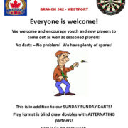 Weekly Tuesday Evening Fun Darts