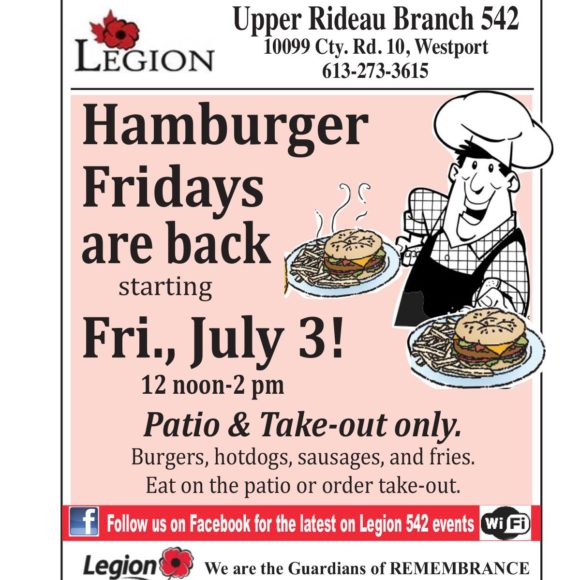Hamburger Fridays at the Legion