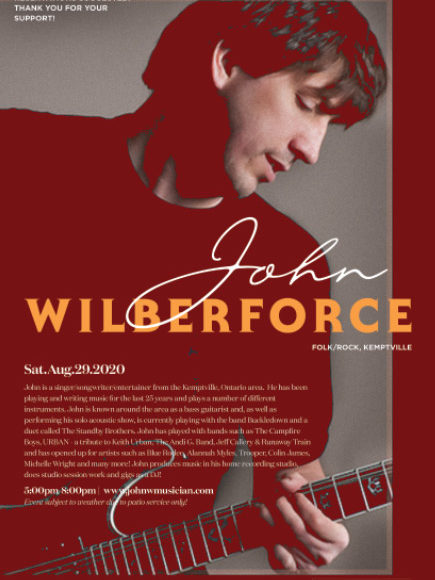 Live Music with John Wilberforce