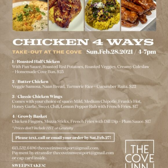 Chicken 4 Ways Take-Out from the Cove