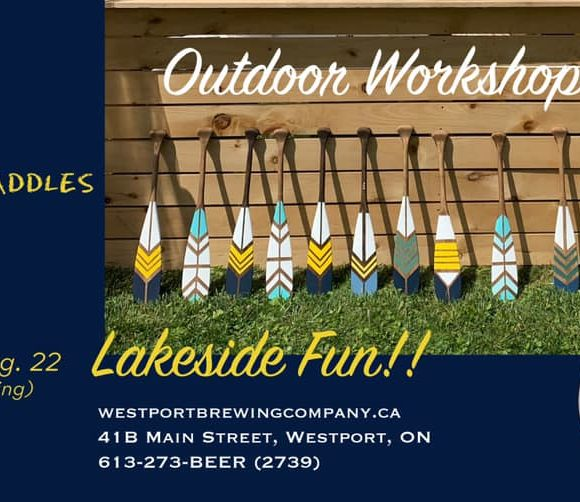 Paint & Pints Painted Paddles with Lindsay Bell