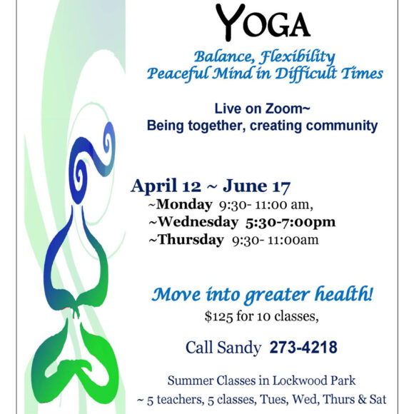 Rideau Lakes Yoga Spring Classes