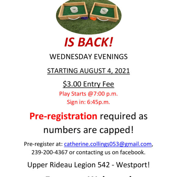 Wednesday Washer Toss at the Legion